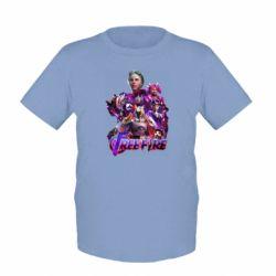 Детская футболка Garena free avengers