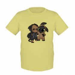 Детская футболка Groot And Toothless