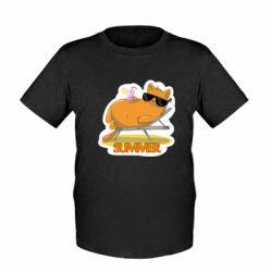 Дитяча футболка Котик на пляжі