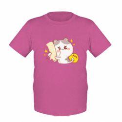 Дитяча футболка Кішка тримає руку