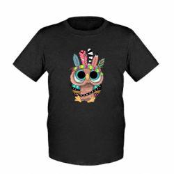 Дитяча футболка Little owl with feathers