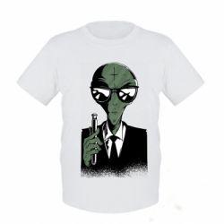 Дитяча футболка Люди в черном пародия