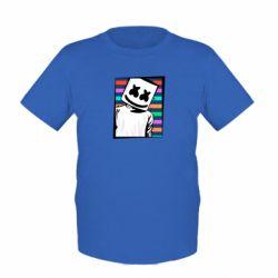 Детская футболка Marshmello Colorful Portrait