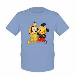 Детская футболка Mickey and Pikachu