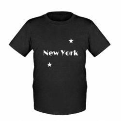 Детская футболка New York and stars