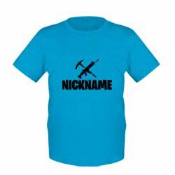 Дитяча футболка Nickname fortnite weapons