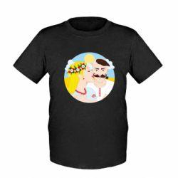 Дитяча футболка Пара козак і козачка.