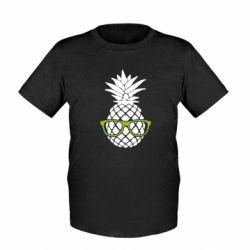 Детская футболка Pineapple with glasses