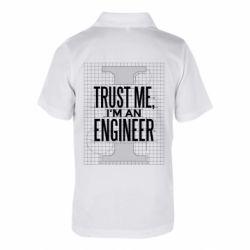 Дитяча футболка поло Довірся мені я інженер