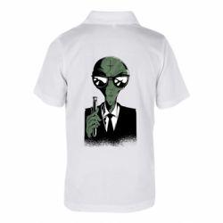 Дитяча футболка поло Люди в черном пародия