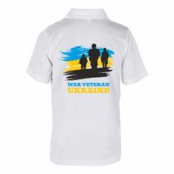 Дитяча футболка поло War veteran оf Ukraine