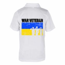 Дитяча футболка поло War veteran