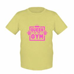Дитяча футболка Queen Of The Gym