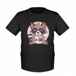 Дитяча футболка Raccoon with cookies