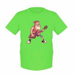 Дитяча футболка Rock'n'roll Santa