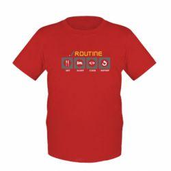 Дитяча футболка Routine code