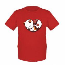 Дитяча футболка Сердечко. Котик и собачка