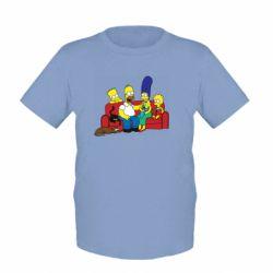 Детская футболка Simpsons At Home