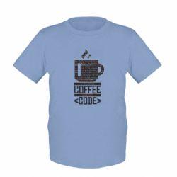 Дитяча футболка Сoffee code