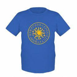 Дитяча футболка Sun in runes