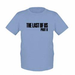 Детская футболка The last of us part 2 logo