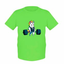 Дитяча футболка The unicorn is rocking