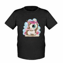 Дитяча футболка Unicorn with flowers