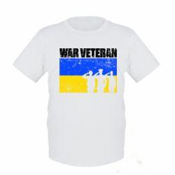 Дитяча футболка War veteran