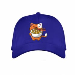 Дитяча кепка Cat and Ramen