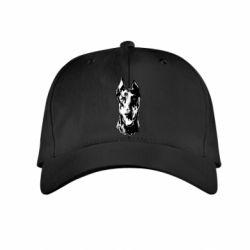 Дитяча кепка Доберман чорний