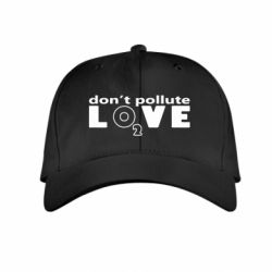 Детская кепка Don't pollute Love О2