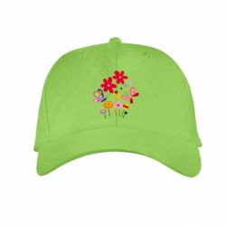 Детская кепка Flowers and Butterflies