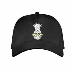 Детская кепка Pineapple with glasses