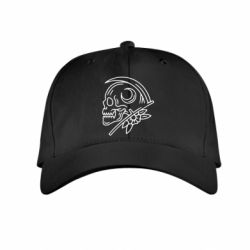 Дитяча кепка Skull with scythe