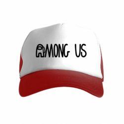 Дитяча кепка-тракерAmong Us Logo