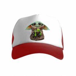 Дитяча кепка-тракер Grogu and Kermit