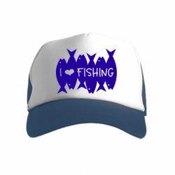 Дитяча кепка-тракер I Love Fishing