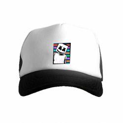 Детская кепка-тракер Marshmello Colorful Portrait