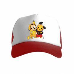 Детская кепка-тракер Mickey and Pikachu