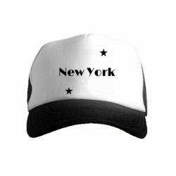 Детская кепка-тракер New York and stars