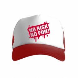 Дитяча кепка-тракерNo Risk No Fun