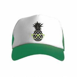 Детская кепка-тракер Pineapple with glasses