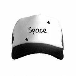 Дитяча кепка-тракер Space: Letters and Stars Print