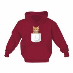 Детская толстовка Cat in your pocket