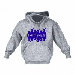 Дитяча толстовка на флісі I Love Fishing