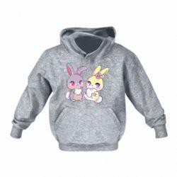 Дитяча толстовка на флісі Rabbits In Love