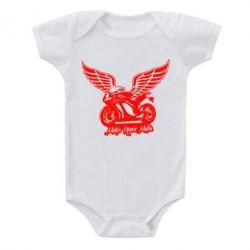 Детский бодик Байк с крыльями - FatLine