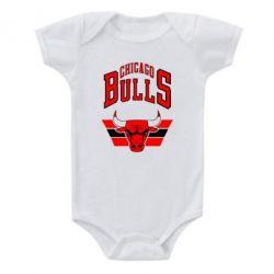 Детский бодик Большой логотип Chicago Bulls - FatLine