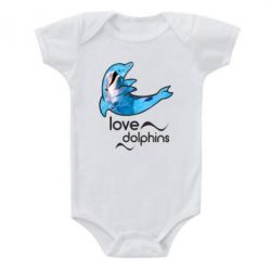 Детский бодик Дельфин