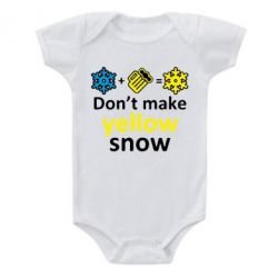 Детский бодик Don't Make Yellow snow - FatLine